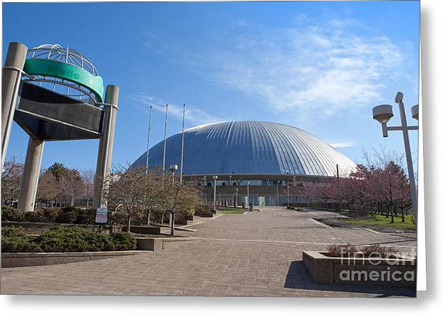 Mellon Arena Pittsburgh Pa Greeting Card by Sharon Dominick