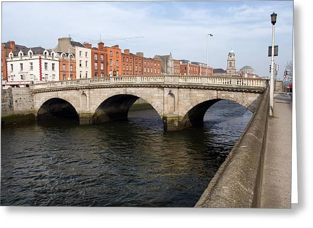 Mellows Bridge In Dublin Greeting Card by Artur Bogacki