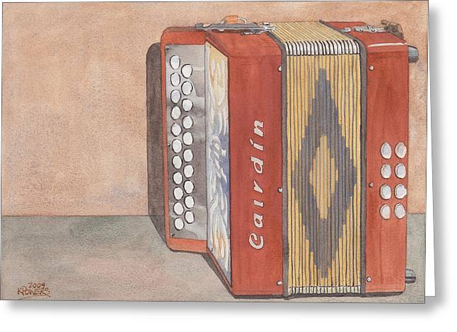 Melodeon Four Greeting Card by Ken Powers