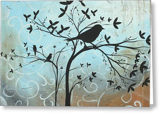 Melodic Dreams By Madart Greeting Card by Megan Duncanson
