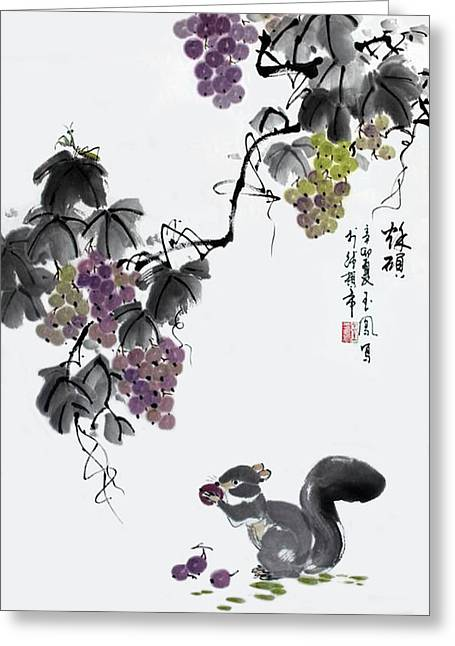 Greeting Card featuring the painting Melody Of Life II by Yufeng Wang