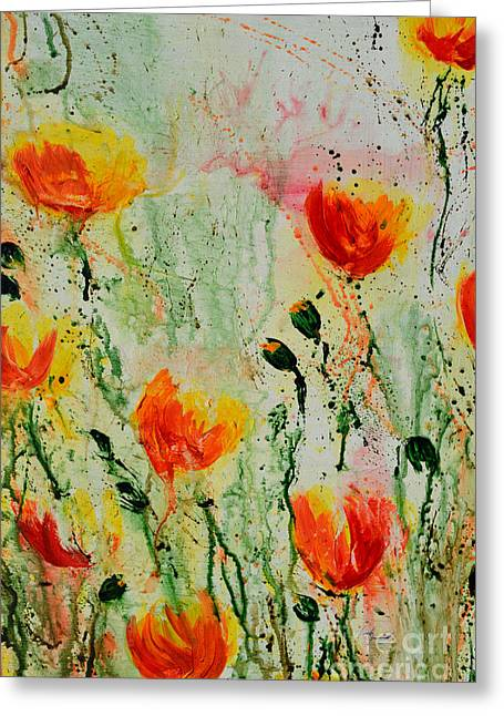 Melody Of Spring- Flower Greeting Card by Ismeta Gruenwald