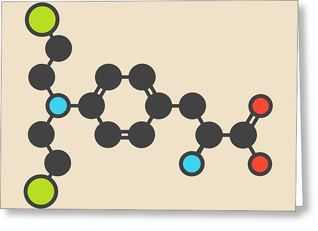 Melphalan Cancer Drug Molecule Greeting Card by Molekuul