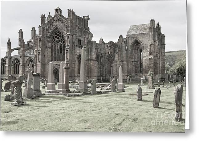 Melrose Abbey Greeting Card by Juergen Klust