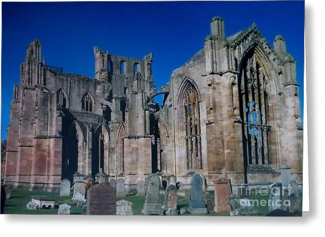 Melrose Abbey  Scotland Greeting Card