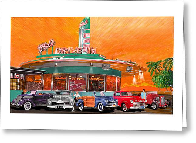 Mels Drive In San Francisco 2nd Gen Greeting Card by Jack Pumphrey