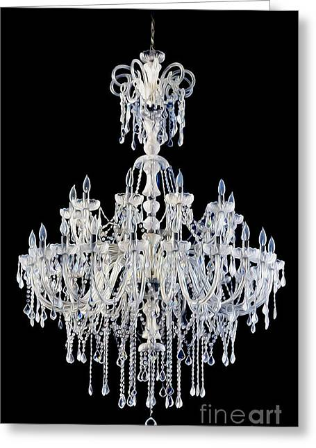 Melting Chandelier Greeting Card by Jon Neidert