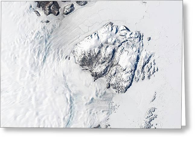 Melting Greenland Glaciers Greeting Card