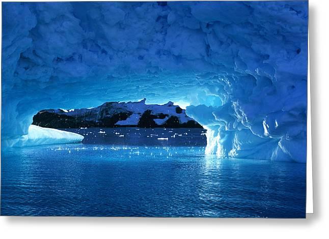 Melting Ice Cave Antarctica Greeting Card