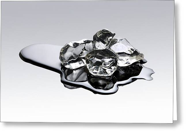 Melting Ice Greeting Card by Victor De Schwanberg