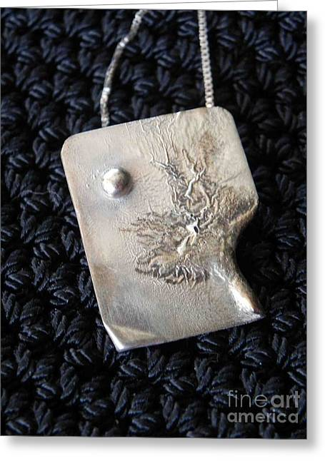 Melting Silver Greeting Card by Patricia  Tierney