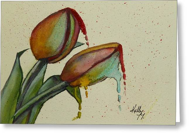 Melting Tulips Greeting Card