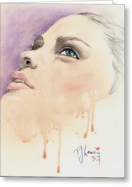 Melting Youthful Beauty Greeting Card by P J Lewis