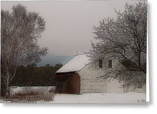 Greeting Card featuring the photograph Melvin Village Barn by Brenda Jacobs