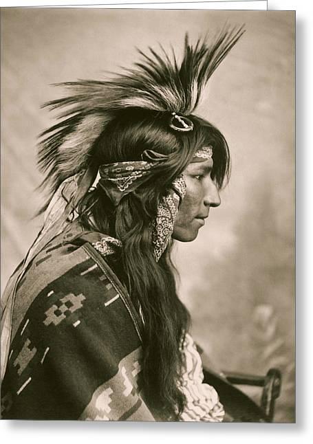 Member Of The Cree Tribe - Saskatchewan 1903 Greeting Card