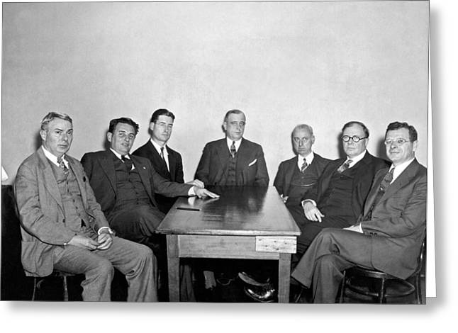 Members Of The Nra Board Greeting Card by Underwood Archives
