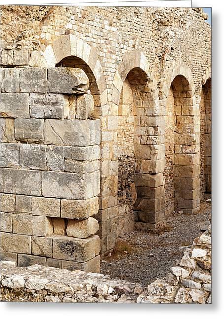 Memmian Baths, Roman Ruins Of Bulla Greeting Card