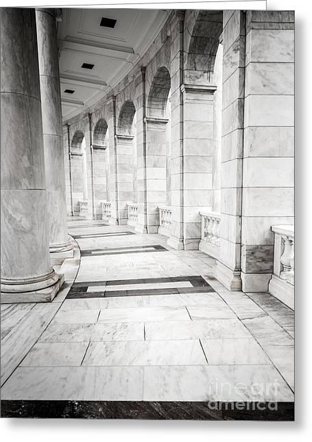 Memorial Amphitheater Corridor - Arlington National Cemetery  Greeting Card