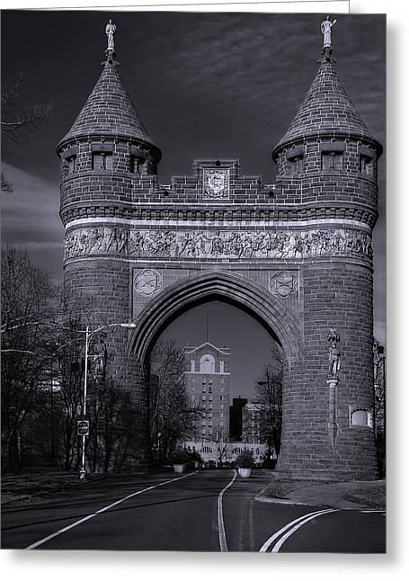 Memorial Arch Hartford Connecticut Greeting Card