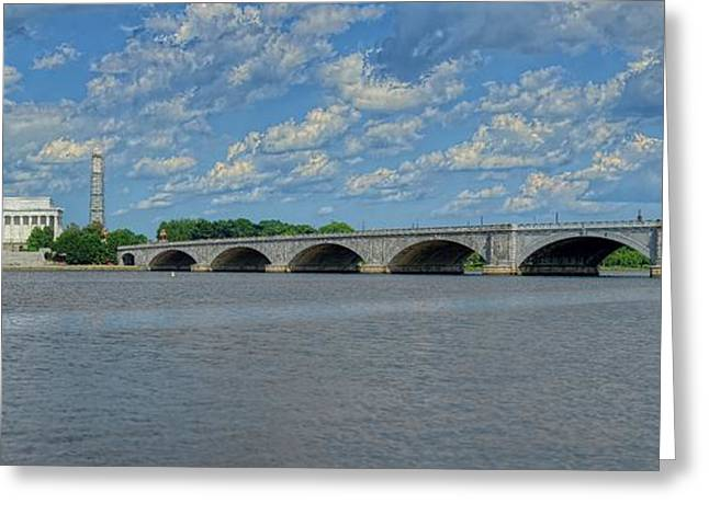 Memorial Bridge After The Storm Greeting Card by Metro DC Photography