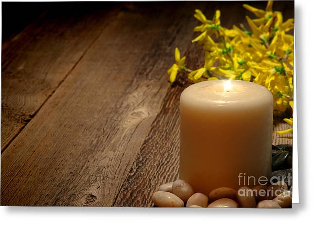 Memorial Candle Greeting Card by Olivier Le Queinec