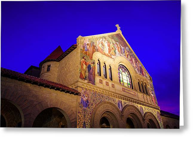 Memorial Church Stanford University Greeting Card by Scott McGuire