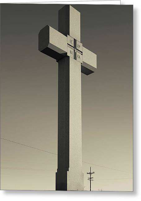 Memorial Cross To Spanish Father Juan Greeting Card by Panoramic Images