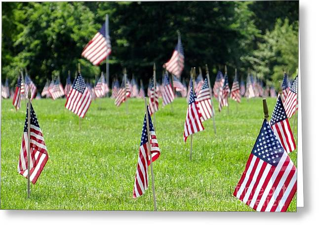 Greeting Card featuring the photograph Memorial Day by Ed Weidman