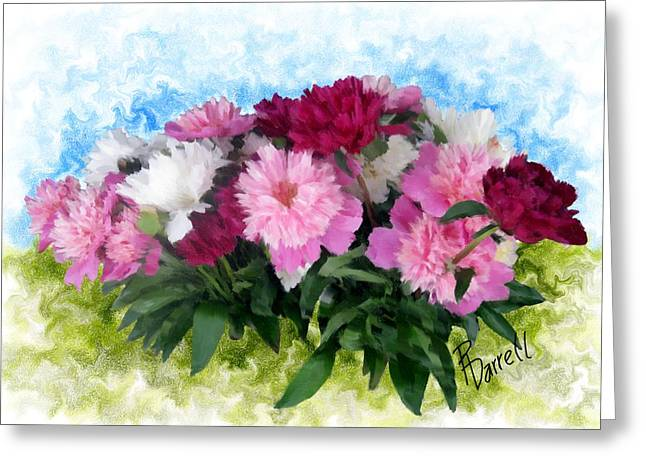 Memorial Day Peonies Greeting Card