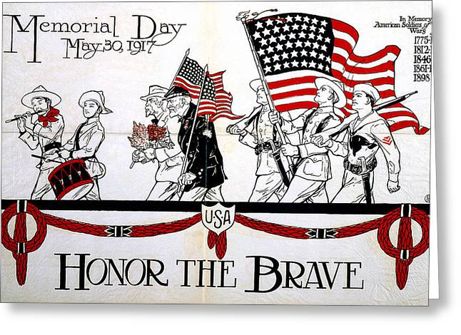 Memorial Day Poster Greeting Card by Granger