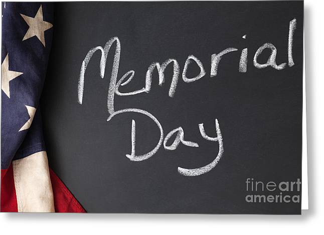 Memorial Day Sign On Chalkboard Greeting Card