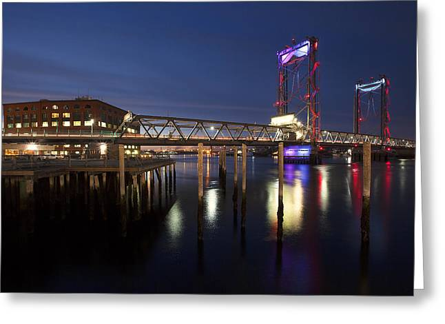 Memorial Lightshow Greeting Card by Eric Gendron