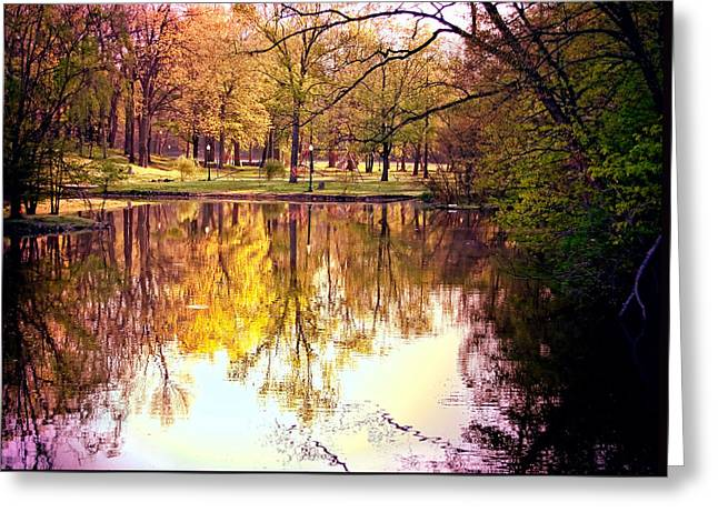 Memorial Park - Henry County Greeting Card by Mark Orr