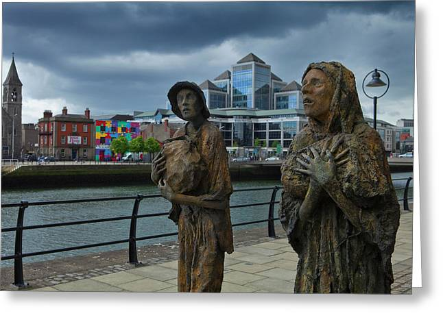 Memorial To The Famine Victims Greeting Card by Panoramic Images