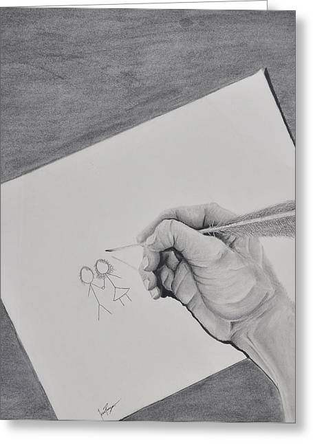 Memories By Isaac Priego -hand Drawing Memories Greeting Card
