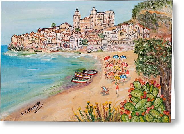 Greeting Card featuring the painting Memorie D'estate by Loredana Messina