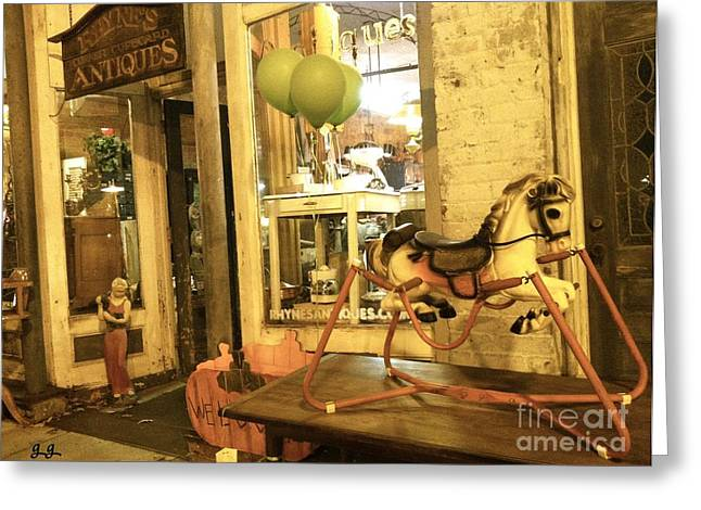 Greeting Card featuring the photograph Memories For Sale by Geri Glavis