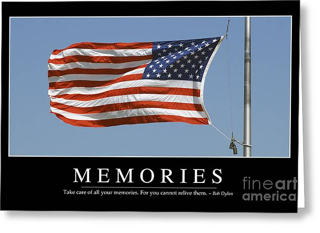 Memories Inspirational Quote Greeting Card by Stocktrek Images