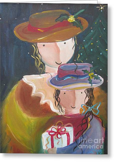 Greeting Card featuring the painting Memories by Nereida Rodriguez