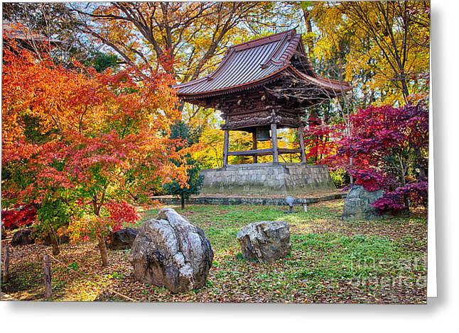 Memories Of Autumn-4 Greeting Card by Tad Kanazaki