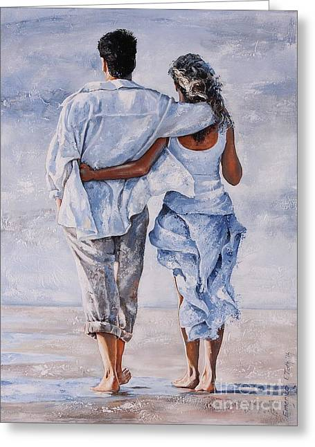 Memories Of Love Greeting Card by Emerico Imre Toth