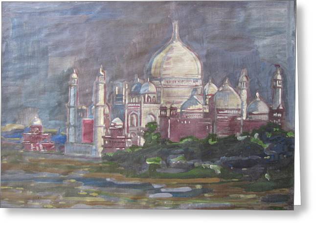 Memories Of The Taj Greeting Card by Vikram Singh