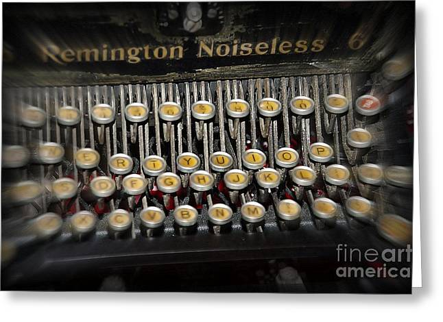 Memories Remington Noiseless Typewriter  Greeting Card by JW Hanley
