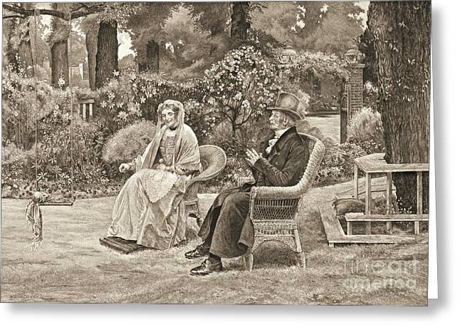 Memory's Garden 1911 Greeting Card by Padre Art