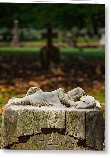 Memphis Elmwood Cemetery Monument - Adelma Greeting Card