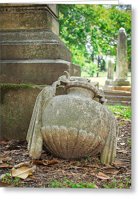 Memphis Elmwood Cemetery Monument - Fallen Greeting Card by Jon Woodhams