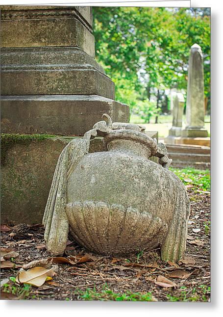 Memphis Elmwood Cemetery Monument - Fallen Greeting Card by Jon Woodhams