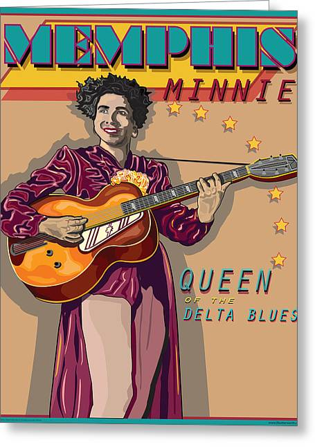 Memphis Minnie Queen Of The Delta Blues Greeting Card by Larry Butterworth
