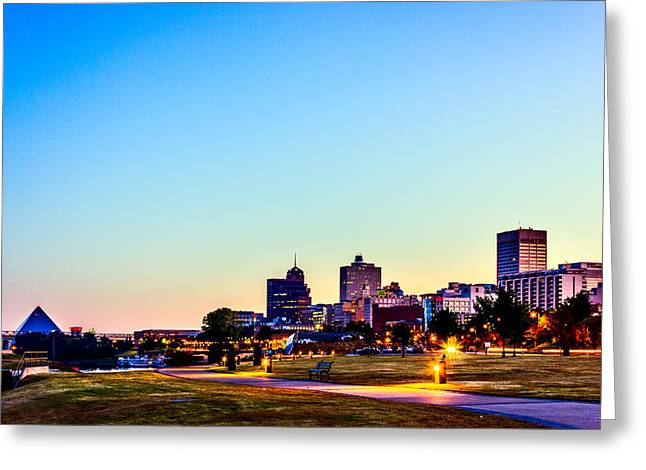 Memphis Morning - Bluff City - Tennessee Greeting Card by Barry Jones