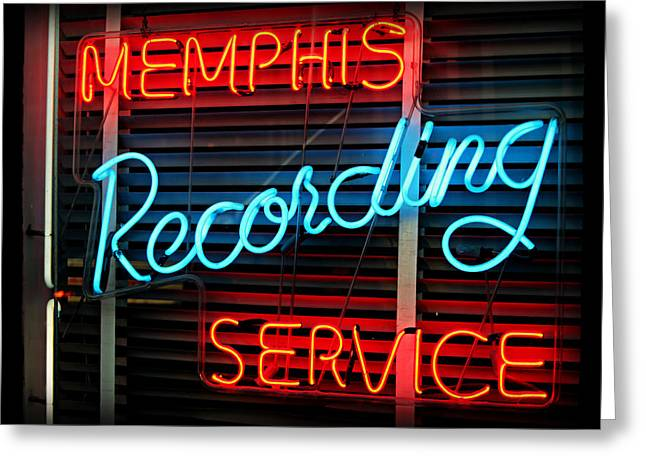 Memphis Recording - Sun Studio Greeting Card